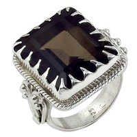 Smokey Quartz Natural Gemstone Ring Jewellery