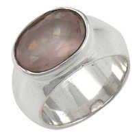 Natural Premium Rose Quartz Gemstone Ring Jewellery