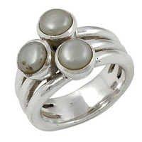 Pearl Gemstone Ring Jewellery