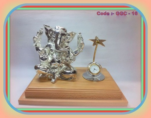 Silverplated Ganesha with Watch
