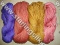 Wool Silk Blended Yarn Hand Knitting Yarn
