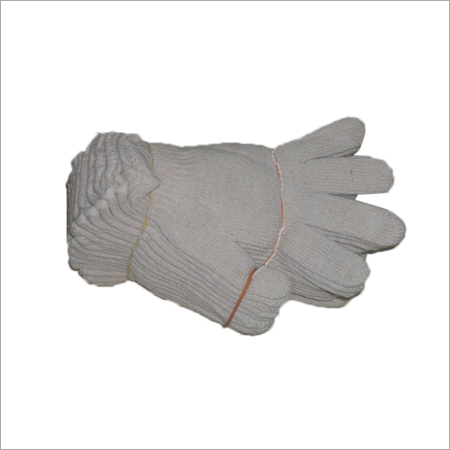 Off White Knitted Hand Gloves