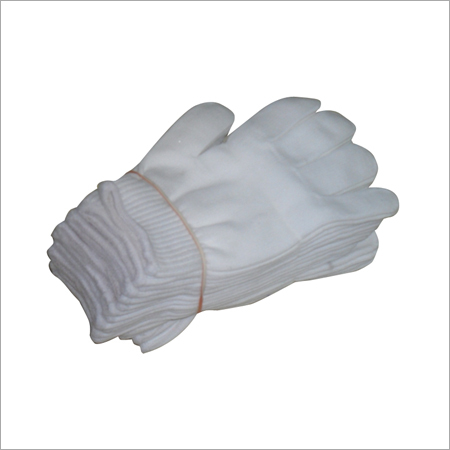 White Driving Hand Gloves
