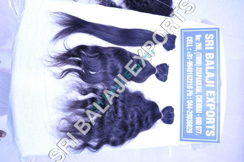 Machine weft stright  wavy and curly human hair