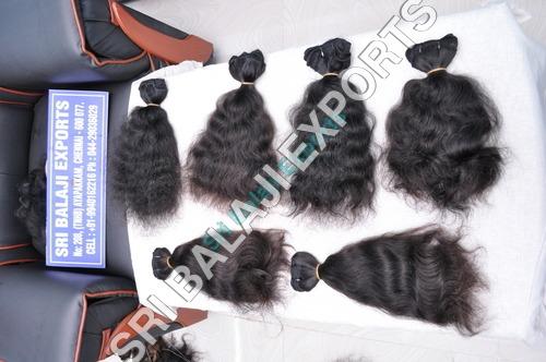 Machine weft hair- curly hair