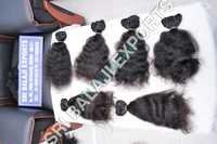 Machine weft hair- curly hair