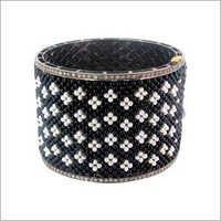 Pearl Onyx Beads Gold Bangle Jewelry