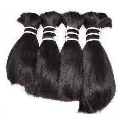 natural color single drawn virgin human hair bulk