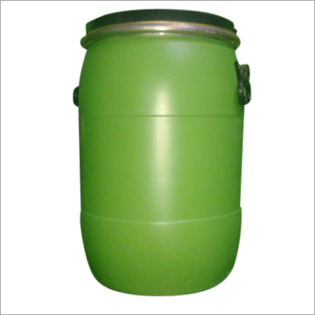 Green 55 Gallon Plastic Drum