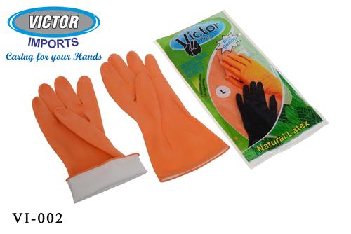 Orange & Black Household Latex Hand Gloves