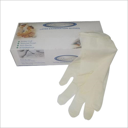 Latex Powder free Examination Hand Gloves