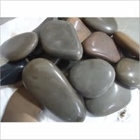 Natural Polished Flat Black Pebble And Stones For Landscaping