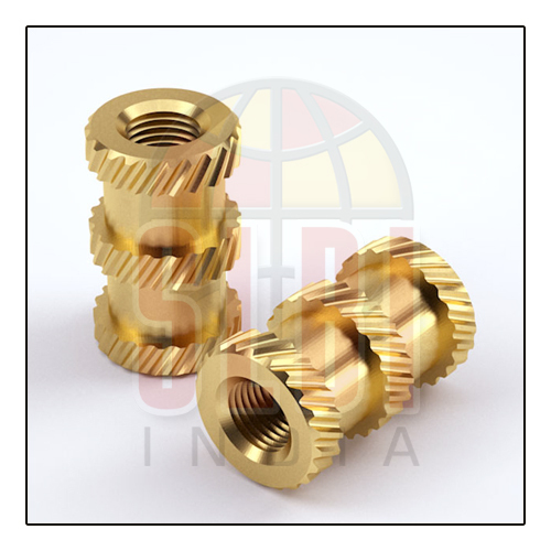 Brass Cross Knurling Inserts