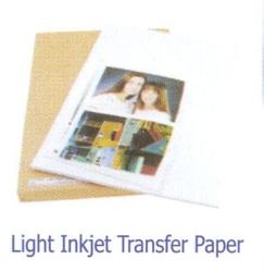 Light Colour Inkjet Transfer Paper - Light Colour Inkjet