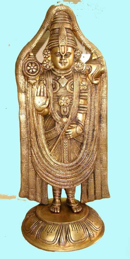 Tirupati Balaji Brass Statue