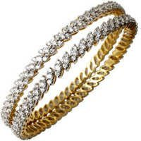 Pretty Designer Tiny Diamond Bangle Wholesaler