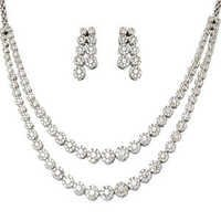 Pressure Set Diamond Tennis Gold Necklace Supplier