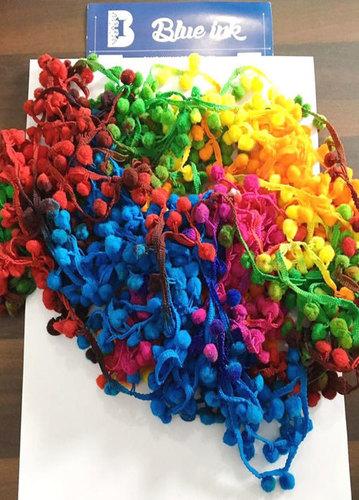 Fancy Colourful Pum Pum Lace