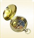 Pocket Compass, Brass Dial