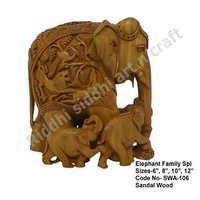 Elephant Family Statues