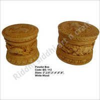 Wooden Powder Box