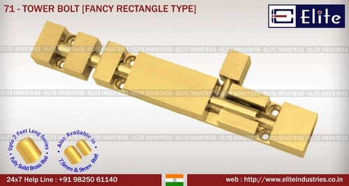 Tower Bolt Rectangle Type
