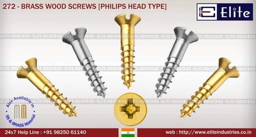 Brass Wood Screw Philips Head Type