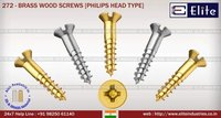 Brass Wood Screw Philips Head Type