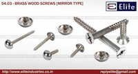 Mirror Head Wood Type Screw