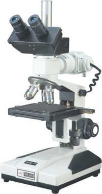 Trinocular Upright Metallurgical Microscope