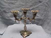 White Metal Candle stend on jawish