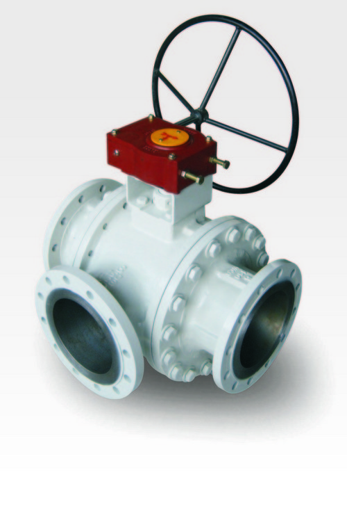 3 Way Gear Operated Ball Valve