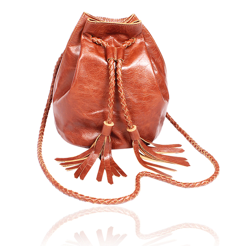 Classic Leather Bucket Bag