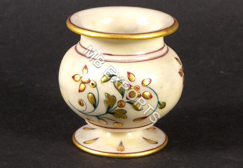 Floral Vase In Marble