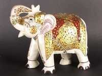 handcrafted marble elephant