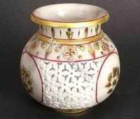 handpainted marble vase
