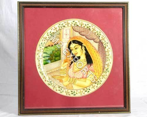 Indian woman hand painting