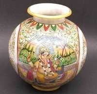 Marble Ganesha pot