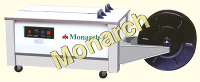 Lower table strapping machine