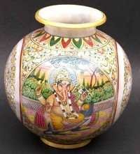 marble pot with ganesha