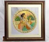 Krishna On Marble Painted