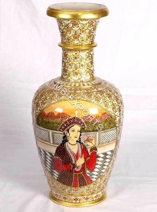 painted marble vase