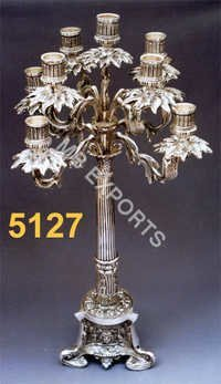 Metal Jewish Candle with 9 lamps