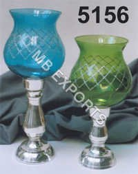 metal and glass huricane