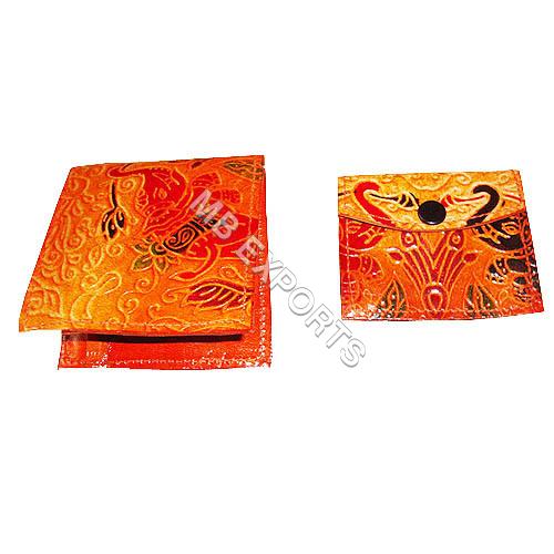 Shantiniketan leather wallet