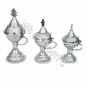 Silver Metal Incense Stand
