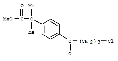 Benzeneacetic acid,4-(4-chloro-1-oxobutyl)-a,a-dimethyl-, methyl ester
