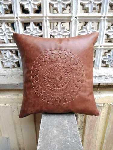 Mandala Leather Cushion