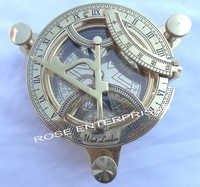 Nautical Marine Brass Sundial Compass