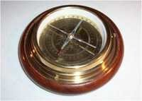 Wooden Base Brass Directional Compass